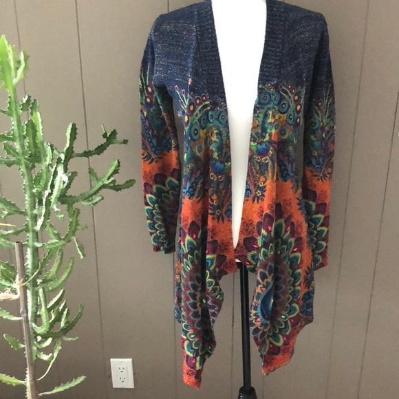 Desigual Multicoloured Wrap Cardigan